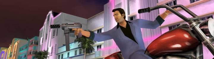 Efsanevi oyun Grand Theft Auto Vice City'den bir ekran görüntüsü.