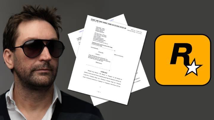 Take Two ve GTA Tutkunları arasındaki davaya ilişkin bir görsel çalışması.