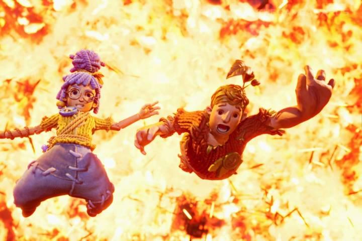Cody ve May bir patlamadan kurtulmaya çalışırken.
