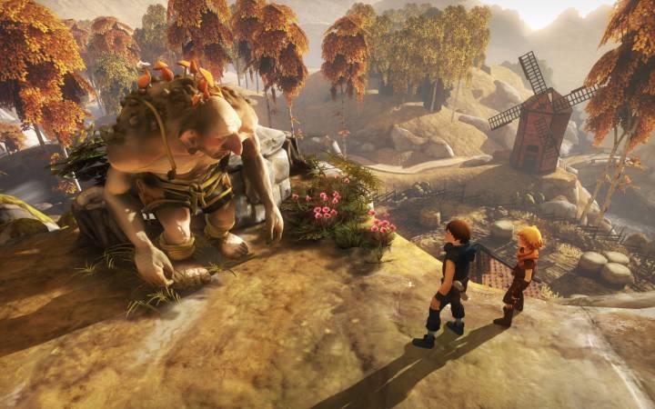 Brothers: A Tale of Two Sons oyun içi bir görüntü.